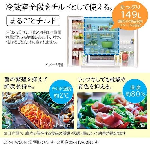 【冷蔵室】食材の鮮度が長持ちする機能に注目