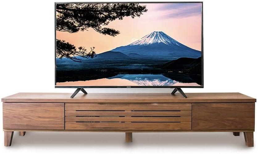▼「横幅」はテレビ幅の1.5~2倍あると安定性◎