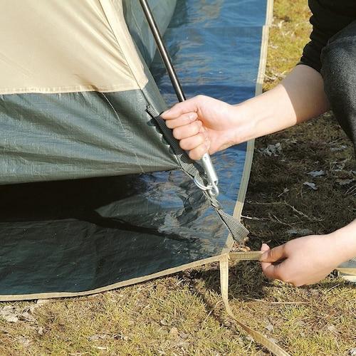 ★テントと同じメーカーならサイズがピッタリ!