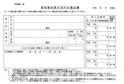 源泉徴収票不交付のフォーマット(出典:国税庁ホームページ)