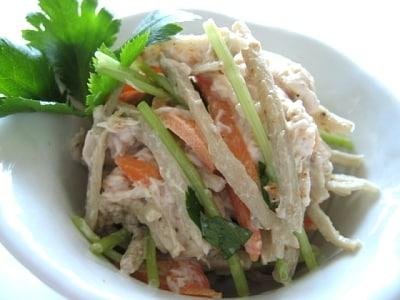 10分でサラダ 鶏ゴボウサラダの作り方