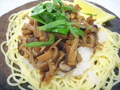 きのこ3種の和風スパゲッティ