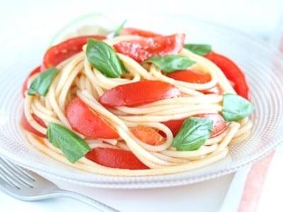 レンジでパスタを茹でる! 冷製トマトスパゲティレシピ