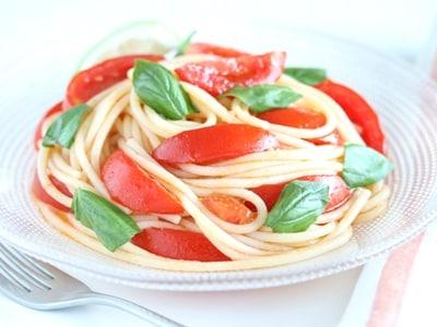 レンジでパスタを茹でる!冷製トマトスパゲティ