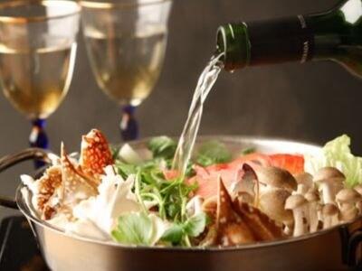 白ワインたっぷりの薬膳鍋