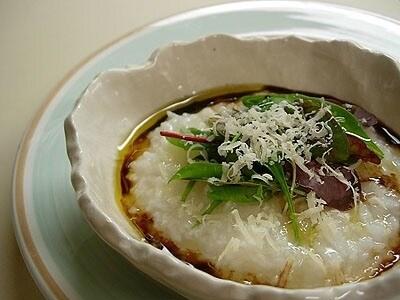 新感覚!チーズ入りのイタリアン七草がゆ