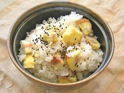 新米で作る、ホクホク秋の栗ご飯