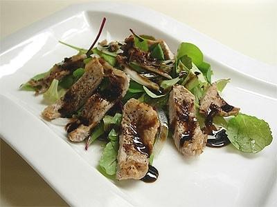 豚肉のソテー・黒酢ソース