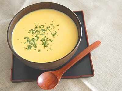 素材を味わうかぼちゃのミルクスープ