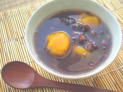 野菜で和スイーツ かぼちゃ団子のお汁粉
