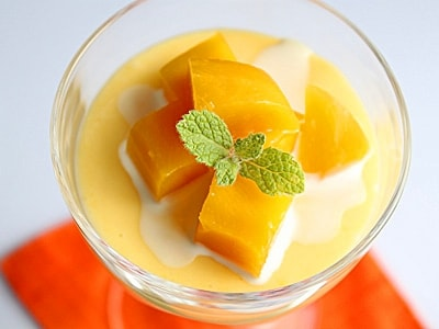 缶詰で簡単、リッチな味わいのマンゴープリン