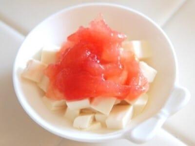 トマトのトロトロと豆腐トマトソースの離乳食レシピ(初期~中期)