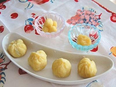 おせちの離乳食!さつまいもとりんごのきんとんレシピ