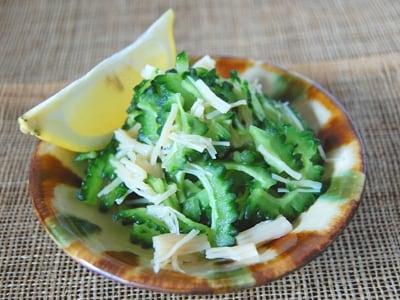 夏野菜おつまみ ゴーヤーのホタテ和え