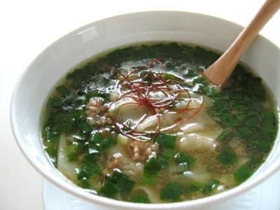 15分でスープ ニラワンタンスープ