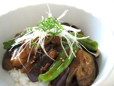 手軽に丼 夏野菜の和風カレー丼