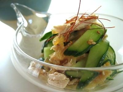 20分で惣菜 ささみとくらげの中華風和え物