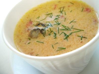 15分でスープ 簡単オイスターチャウダー