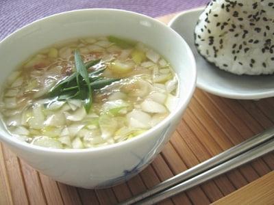 自家製インスタント ねぎ味噌スープ