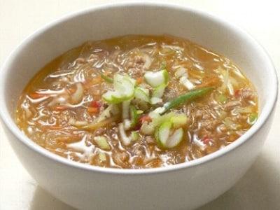 人気のヘルシー麺を作る!スープ春雨