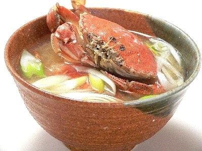 庄内の郷土料理白がにの味噌汁
