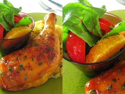 簡単ブランチ オレンジサラダ(ドレッシング)