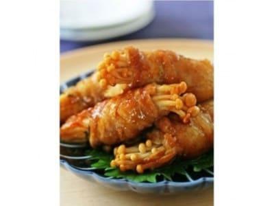 えのきと豚肉とポン酢で簡単豚肉料理!えのきポークロールのレシピ