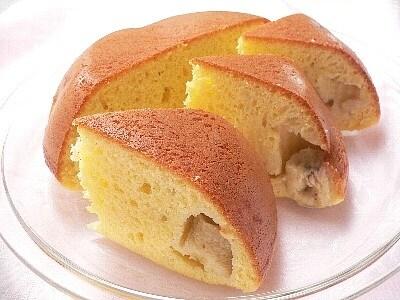 ホットケーキミックスで、お釜バナナケーキ