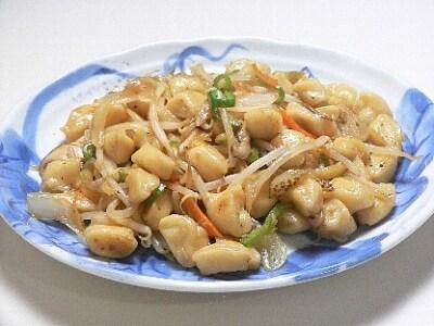 粒麺と野菜の五目炒め