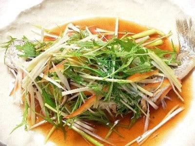 白身魚の姿蒸しの作り方!美味しい魚料理レシピ