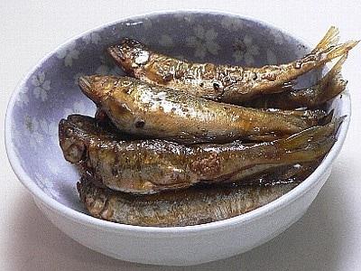 丸ごと食べられる、あゆのすだち煮