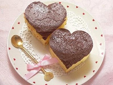 バレンタインレシピハートのチョコカステラ