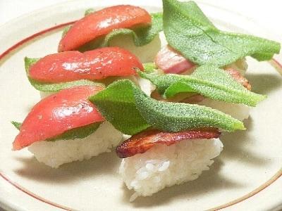 プッチーナ(アイスプラント)の握り寿司