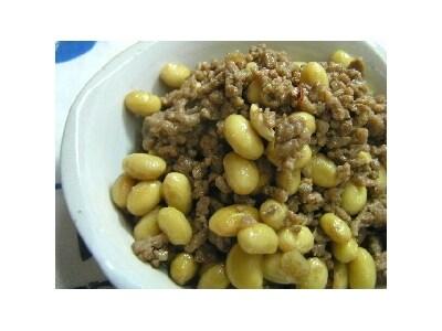 10分でできる 大豆とひき肉の中華甘煮