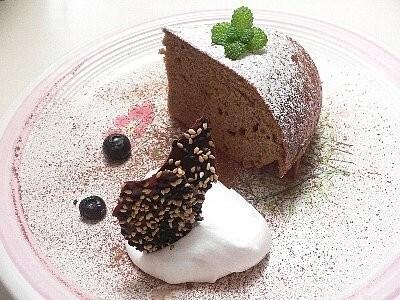 チョコレートケーキプレート