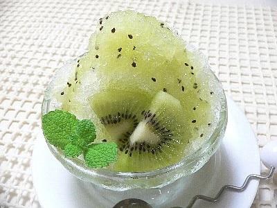 キウイフルーツかき氷