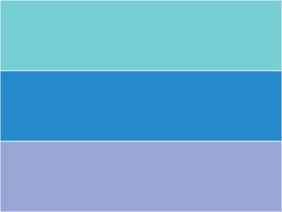 上から順に、ケンブリッジブルー、薄縹(うすはなだ)、ペリウィンクルブルー