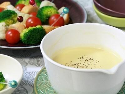 お手軽パーティーレシピ クリームチーズフォンデュ