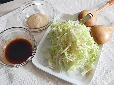 白菜をたくさん食べるサラダ