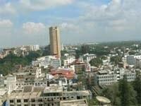 高い場所から見たバンガロール