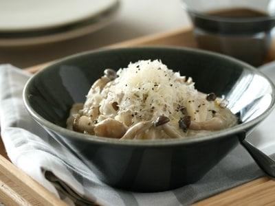 簡単10分レシピ リゾット風きのこミルク雑炊