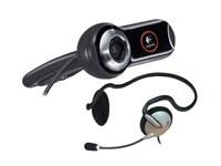 Webカメラにヘッドホンが付属した製品も売っている。これは、ロジクールの「ウェブカムプロ9000h」