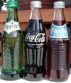 コカ・コーラ ヨーヨー&復刻デザインボトル・英語ロゴ側
