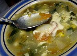 カボチャの花のスープ