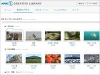 無料で使える動画素材がカテゴリ別に分類されている