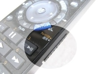 同じボタンを2つの機能を割り当て、側面のスライドスイッチで切り換える例。