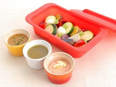 蒸し野菜&簡単3種類のソースレシピ