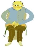 直腸がんの症状が進行すると、便の通過障害に伴う症状が出てきます。繰り返す下痢と便秘や、便が細くなるような症状は要注意です。