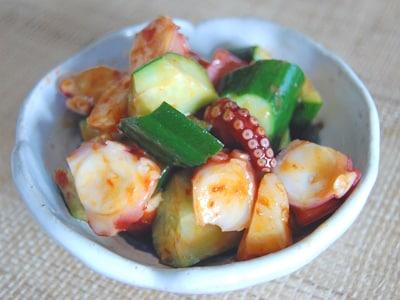 夏野菜おつまみ 速攻ピリ辛タコきゅうり