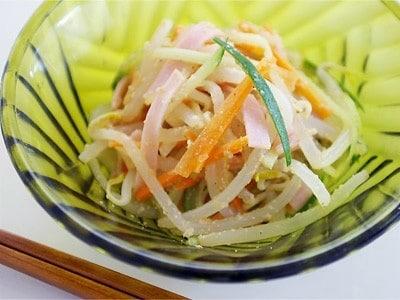 電子レンジで簡単 もやしの中華サラダ